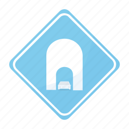road, sign, trafiic, tunnel icon