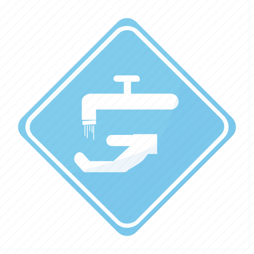 faucet, key, road, sign, water icon