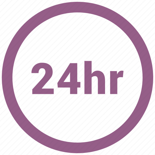 24 hour, banking, home delivery icon