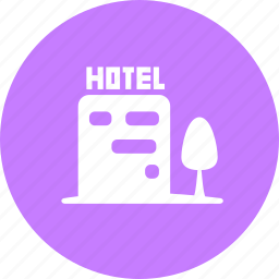 accommodation, building, hotel, house icon