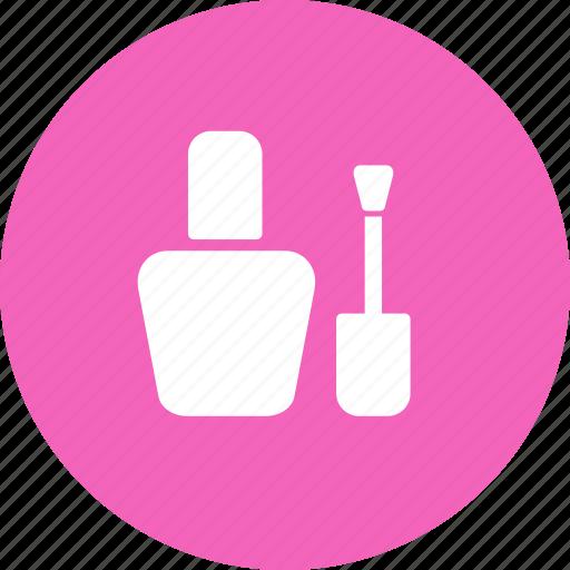 bottle, brush, manicure, nail, nail polish icon