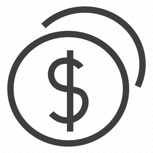 cash, coin, coins, dollar, money, payment icon