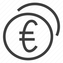 coins, currency, euro, money, payment icon