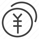 coin, coins, money, payment, yuan icon