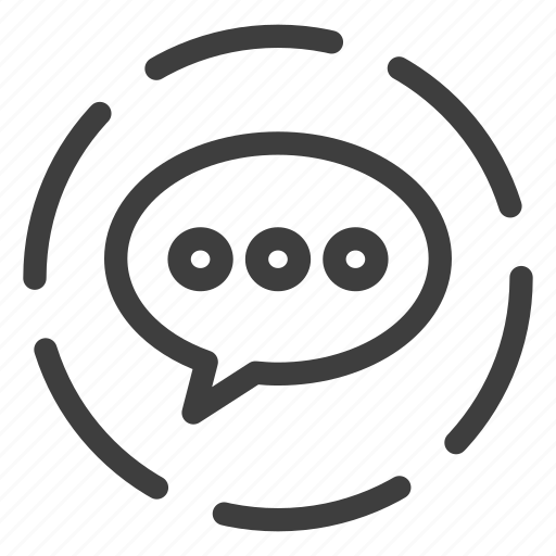 bubble, chat, comment, message icon