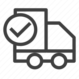 check, deliver, delivery, shipping icon