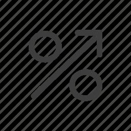 discount, increase, sale icon