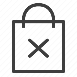 bag, buy, delete, remove, shopping icon