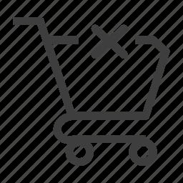 delete, remove, shoppingcart icon