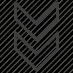 arrow, arrows, direction, down, download, next icon
