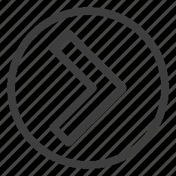 arrow8, right icon
