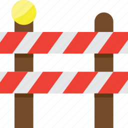 danger, fence, warning, wood icon