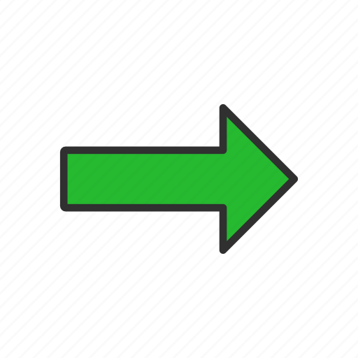 direction, east, navigate, pointer icon