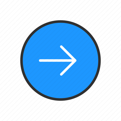 east, navigate, next, pointer icon