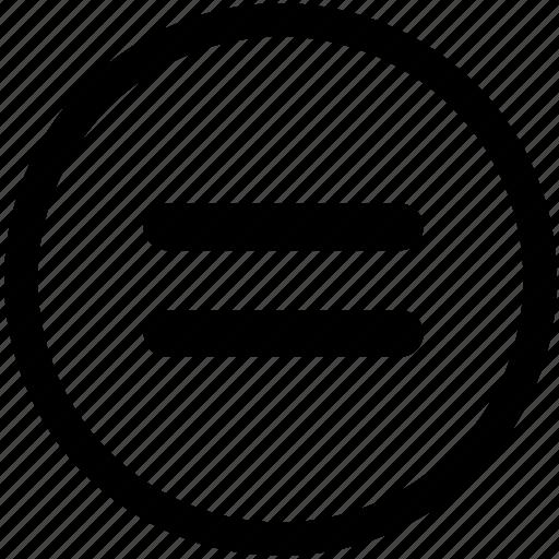 circular equal, circular equals, equal, equals, equals sign, math, mathematical icon