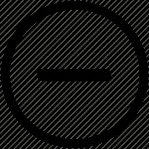 dash, minus, negative, remove, removed, subtract, subtraction icon
