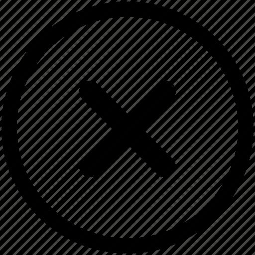 cancel, close, cross, delete, error, incorrect, x icon