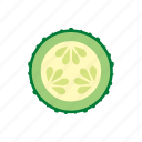cook, cucumber, dish, food, sliced, vegetable, veggie icon