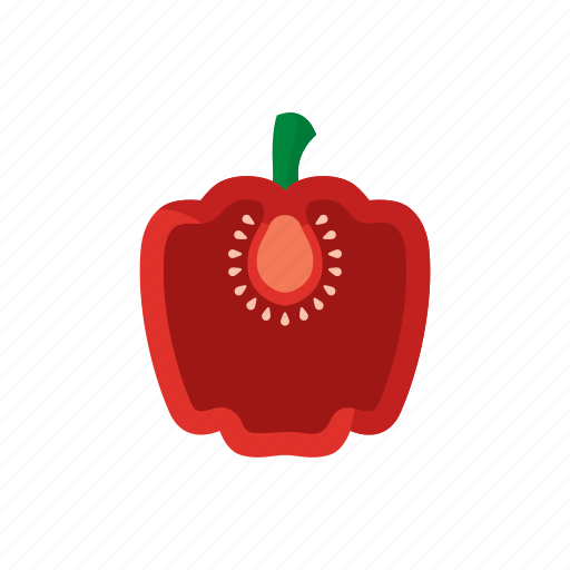 bell pepper, cook, food, paprika, red, vegetable, veggie icon