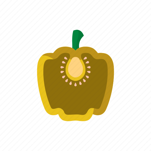 bell pepper, cook, paprika, vegetable, veggie, yellow icon