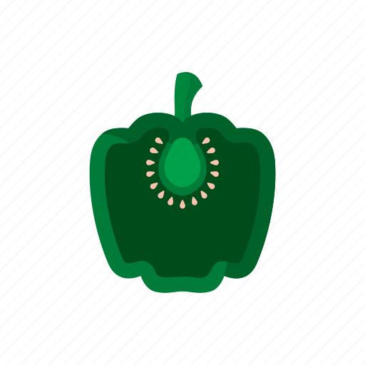 cook, food, green, paprika, pepper, vegetable, veggie icon