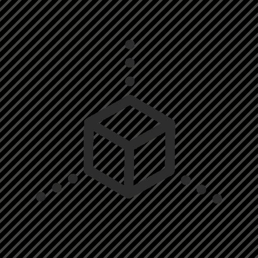 box, corner, creative, cube, design, development icon