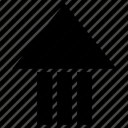 arrow, arrow up, creative, direction, point upward, sign icon