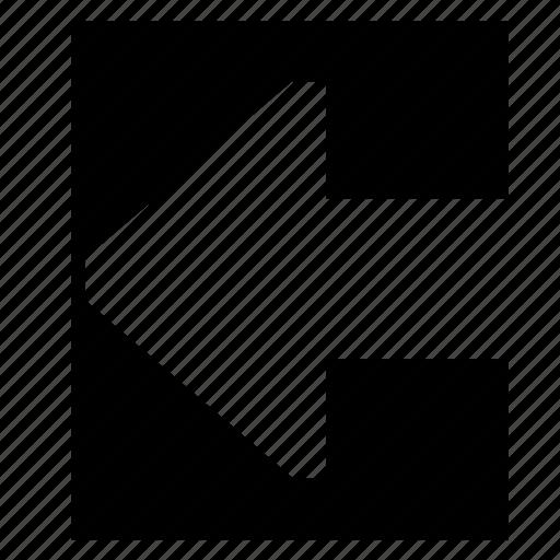 arrow, arrow left, direction, left, sign, way icon