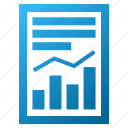 chart, diagram, graph, page, report, statistics, trend icon