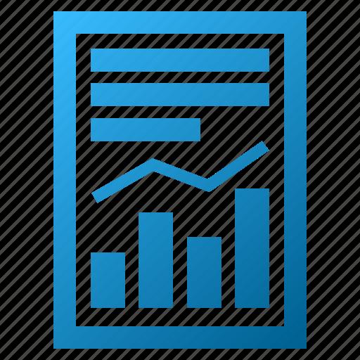 chart, diagram, graph, page, report, statistics, trend icon