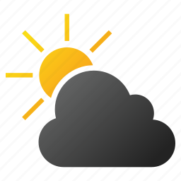 climate, cloud, forecast, sky, sun, sunshine, weather prediction icon