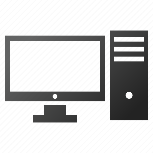desktop computer, display, monitor, office, pc, screen, system icon