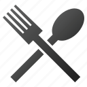 cook, dinner, eat, fork, kitchen, restaurant, spoon icon