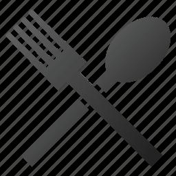 cook, dinner, eat, fork, kitchen, restaurant, spoon icon