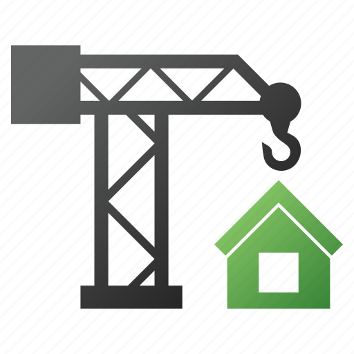 builder, building crane, construction, engineering, house, property, structure icon
