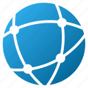 browser, earth, globe map, internet, network, sphere, web icon