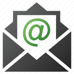 envelope, letter, mail, message, open email, postal, send icon
