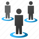 conference, customers, people, portals, social network, user group, users icon