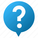 balloon, help, info, information, message, question mark, support icon