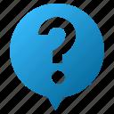 balloon, help, info, information, message, question mark, support