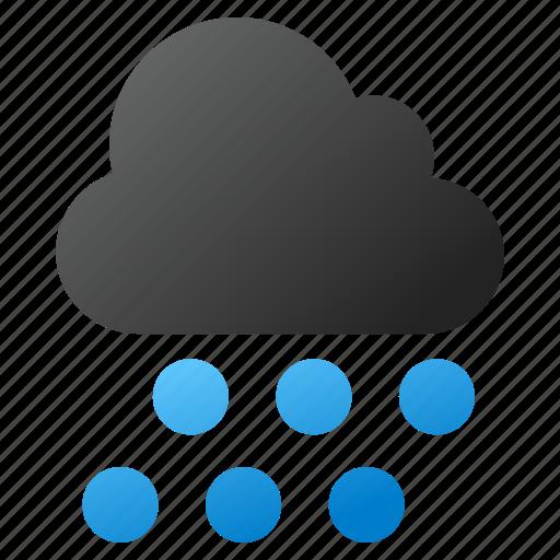 cloud, drop, forecast, rain, rainy, storm, weather icon