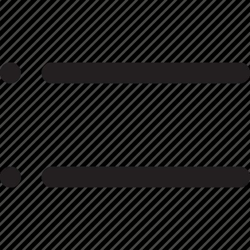 designer, dots, lines, list, menu, stripe, table icon