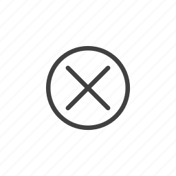 cancel, close, delete, discard, remove, trash icon