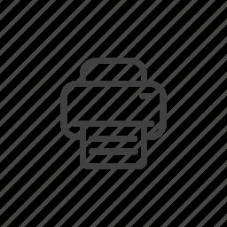file, page, paper, print, printer, scanner icon
