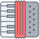 accordion, folk, harmonica, instrument, musical, play, song icon
