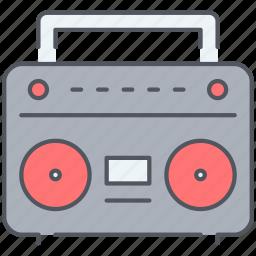 audio, casette, cassette, media, music, player, song icon
