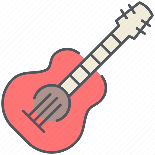 acoustic, guitar, instrument, melody, musical, player, song icon