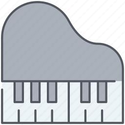 concert, grand, instrument, musical, piano, player, song icon