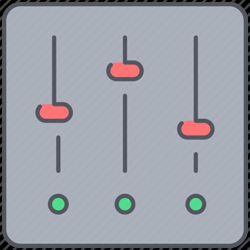 adjustment, audio, control, mixer, music, remix, studio icon