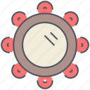 gypsy, instrument, musical, percussion, rhythm, song, tambourine icon